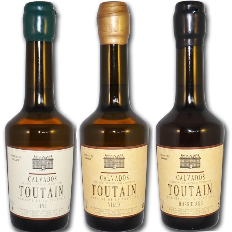 Degustación de 3 calvados de normandía - delicatessen francés online