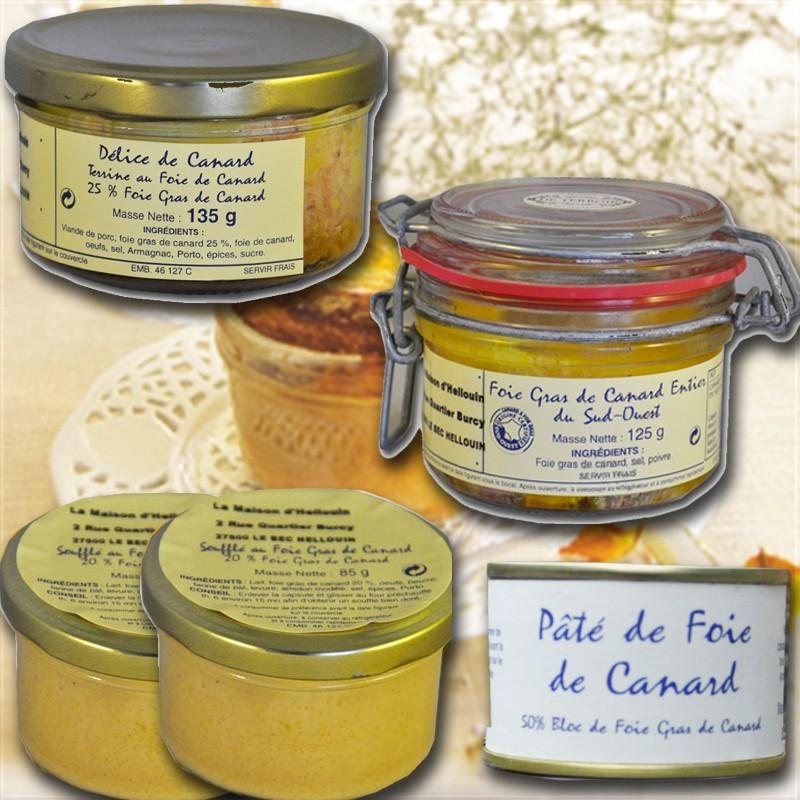 Dégustation de foie gras francais, du sud ouest