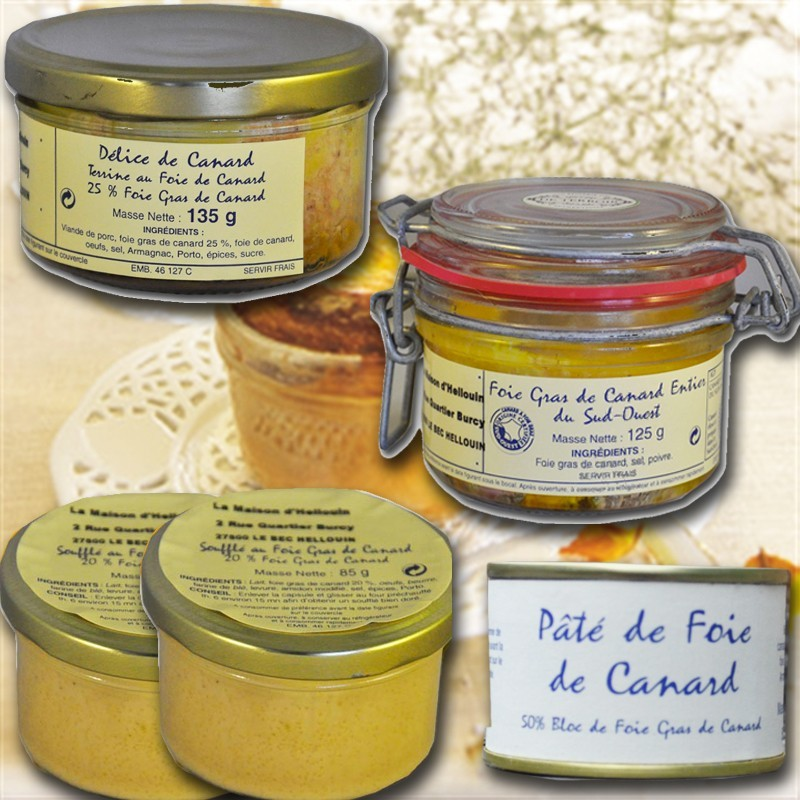 Degustazione di foie gras francesi, da sud ovest
