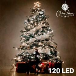 Luces de Navidad blancas...