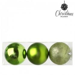 Weihnachtsbaumkugeln 5276 10 cm (3 uds) Kunststoff Grün