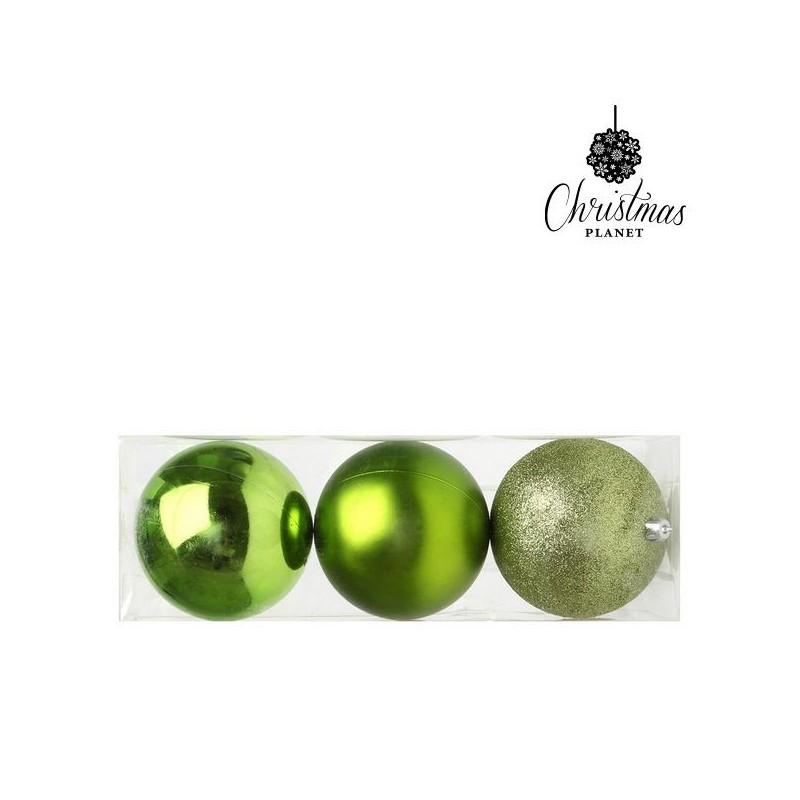 Boules de Noël Christmas Planet 5276 10 cm (3 uds) Plastique Vert