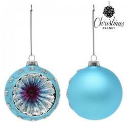 Kerstballen 1693 8 cm (2 uds) Kristal Blauw