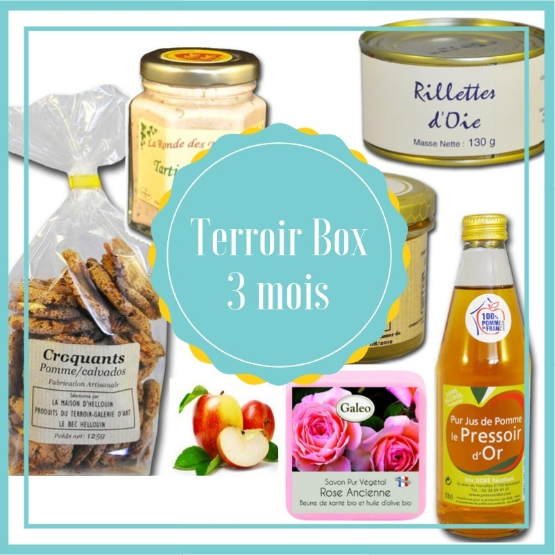 Caja de 3 meses de terroir - productos de terroir francés