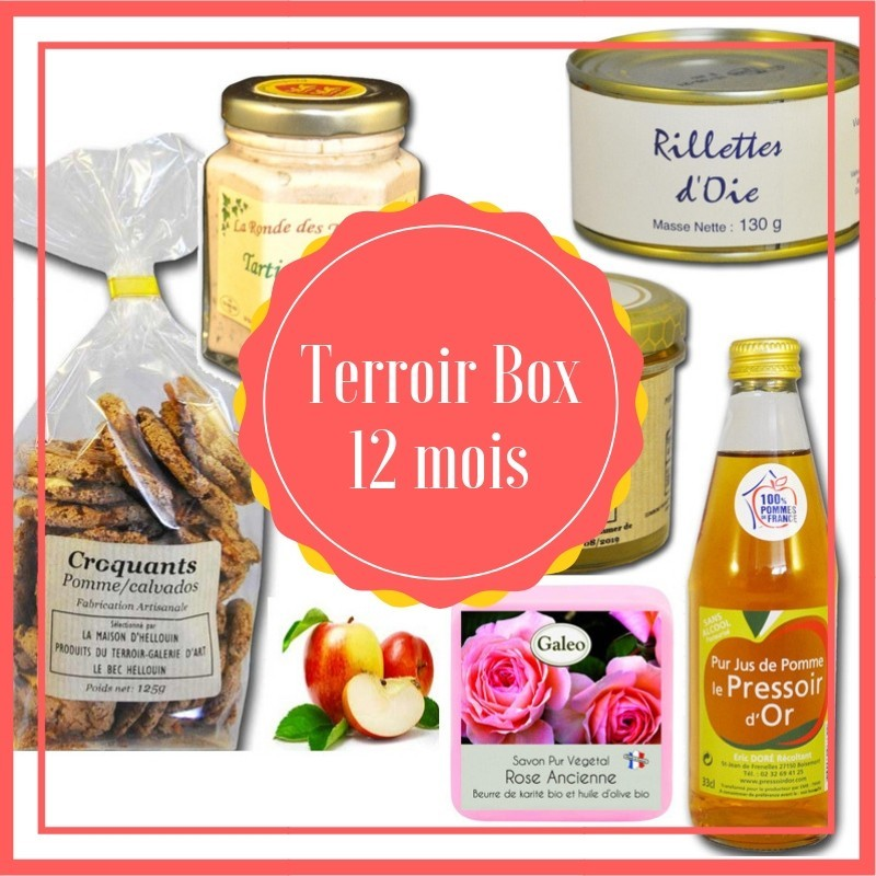 Box 12 months - local products french