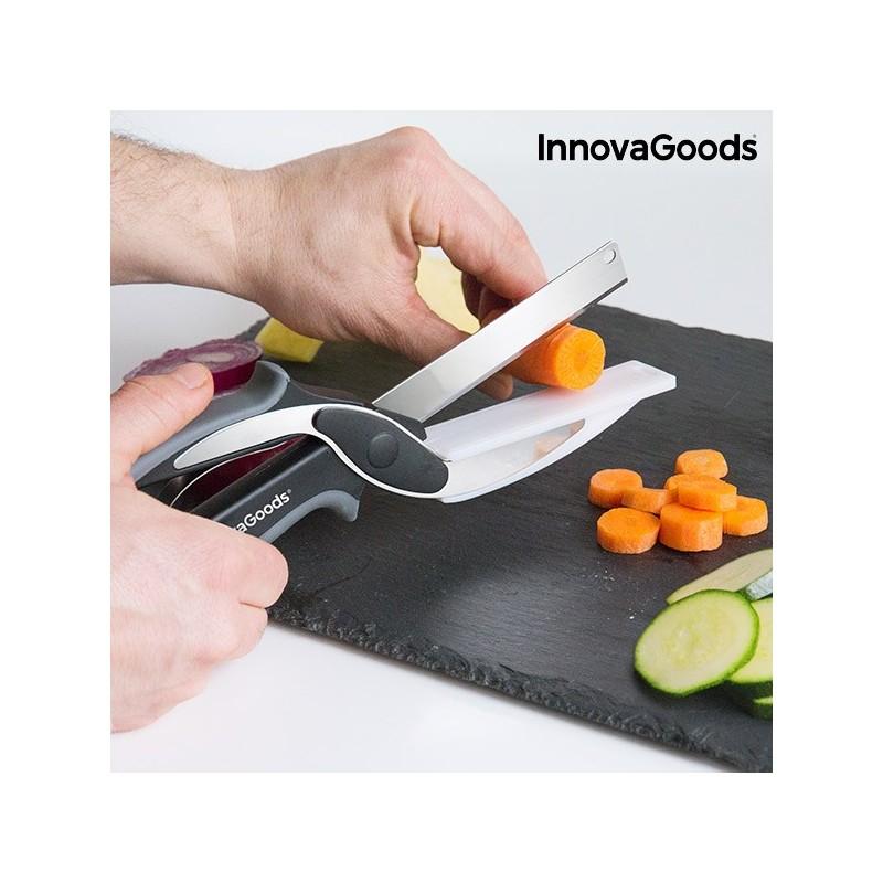 Couteau-Ciseau avec Mini Planche à Découper Intégrée