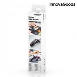 Scherenmesser mit integriertem Mini-Schneidebrett