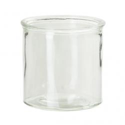 Jarrón recto, rústico, vidrio