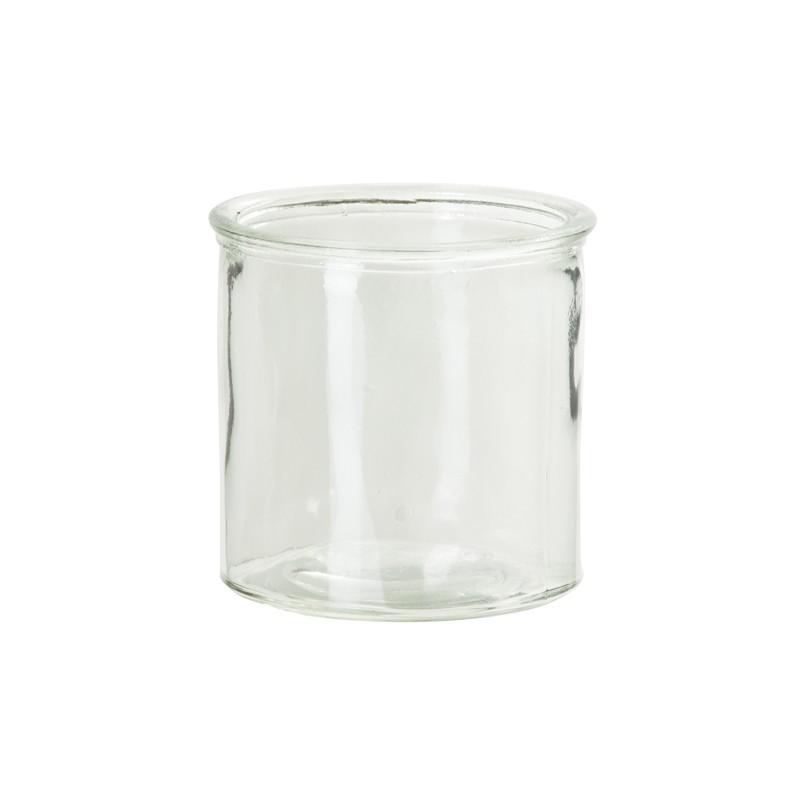 Vase droit, rustique, en verre