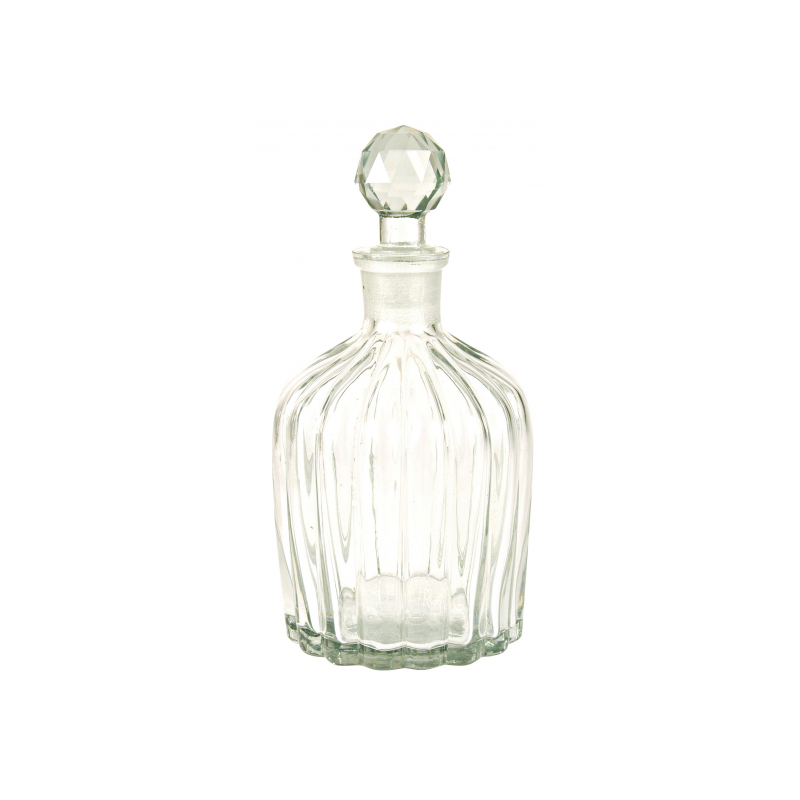 Fluted carafe, round stopper