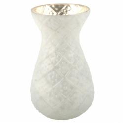 Vaso bianco cesellato,...