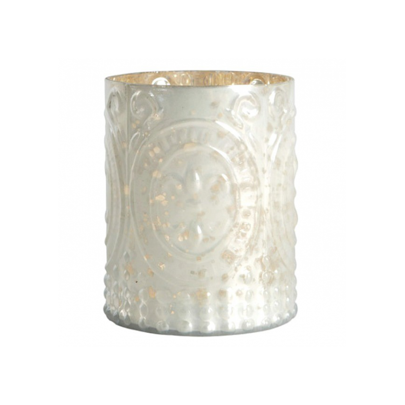 candle holder, big century, white