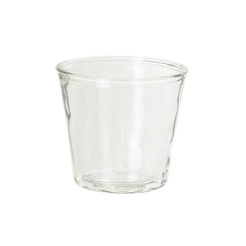 Vase en verre, évasé