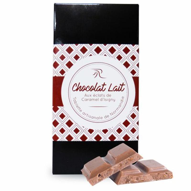 Tablette Chocolat Lait Eclats de Caramel d'Isigny - épicerie fine en ligne
