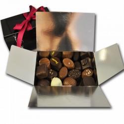 Doos, proeverij van chocolaatjes, 375g  - Franse delicatessen online