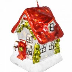 Santa's house candle