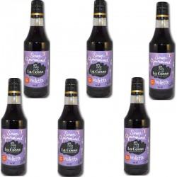 Violet siroop batch van 6