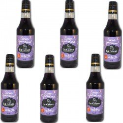 Violet syrup batch of 6- Online French delicatessen