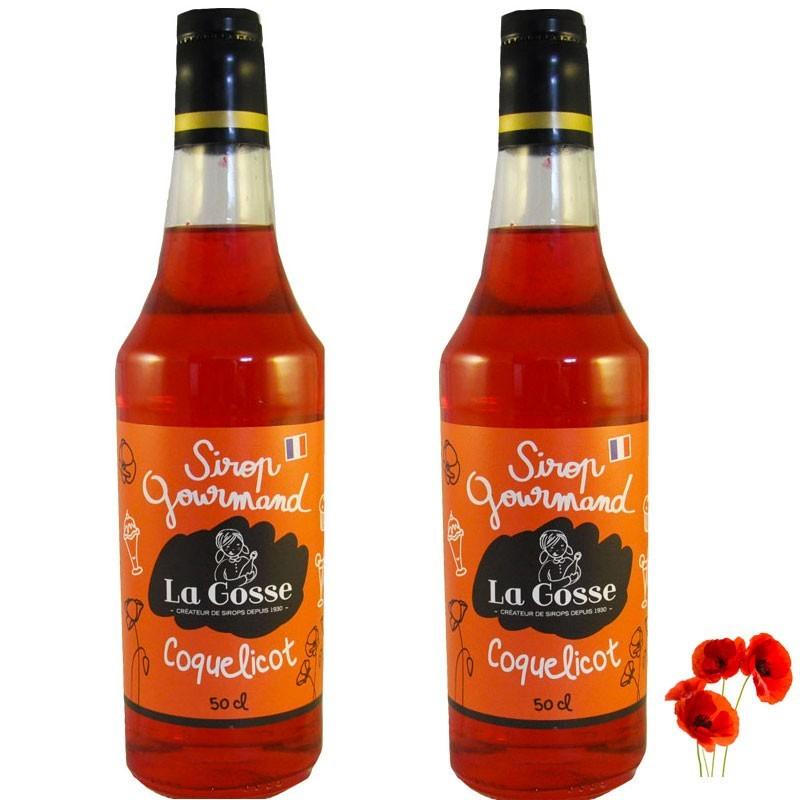 Poppy syrup batch of 2 - Online French delicatessen