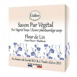 Linen flower soap