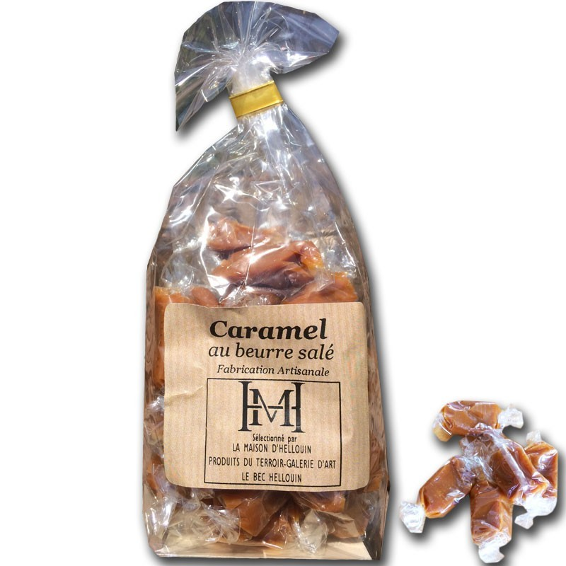 Salted butter caramels bag - Online French delicatessen