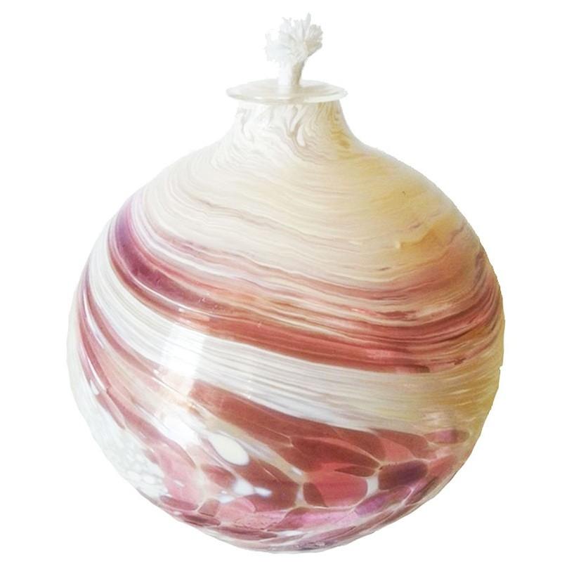 Lampada a olio rosa e bianco