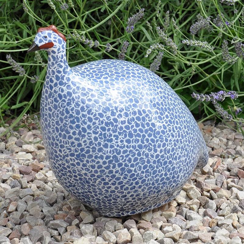 Gallina de Guinea de cerámica azul - Lussan