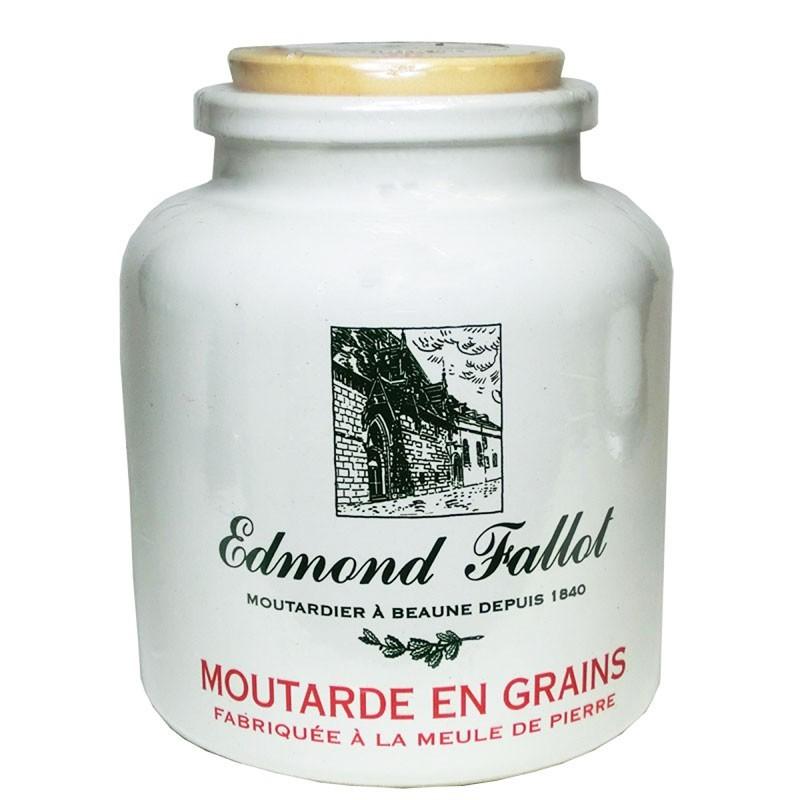 Mostaza Dijon, frijoles, fallot, 250 g - delicatessen francés online