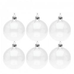Weihnachtsbaumkugeln (6 pcs) Kristall