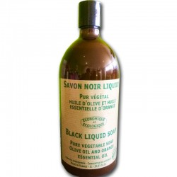 Black liquid soap