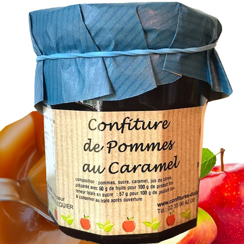 Confiture pomme caramel - épicerie fine en ligne