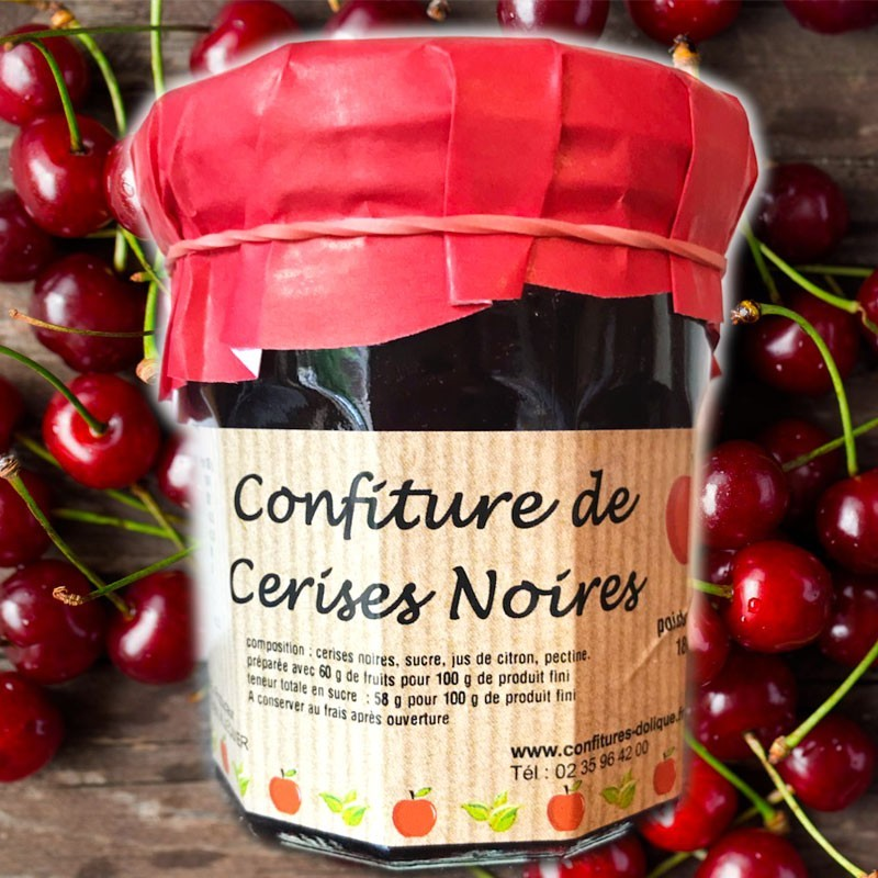 Confiture de cerises noires - épicerie fine en ligne
