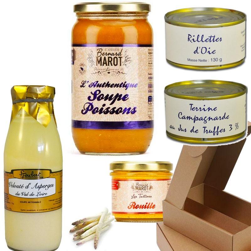 Coffret gourmand : terre et mer - épicerie fine en ligne