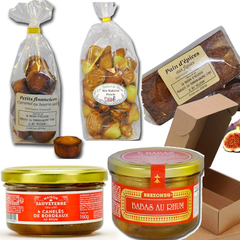 Cesta gourmet: postres gourmet - delicatessen francés online