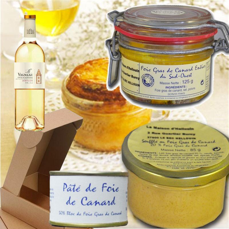 scatola gourmet di foie gras  - Gastronomia francese online