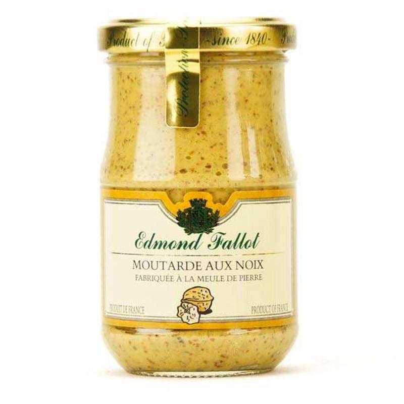 Dijon mustard with walnuts, fallot, 210gr - Online French delicatessen