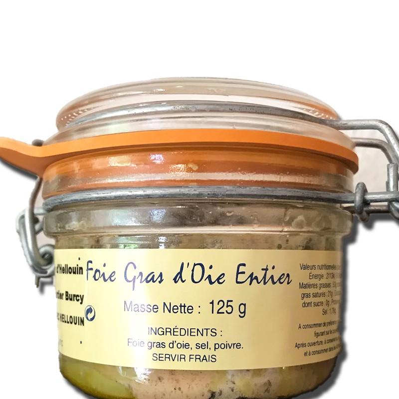 Whole goose foie gras, 125g - Online French delicatessen