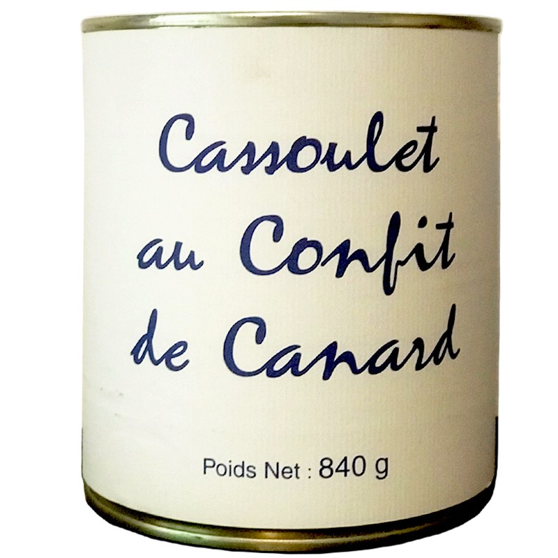 Cassoulet with duck confit, box 840g - Online French delicatessen