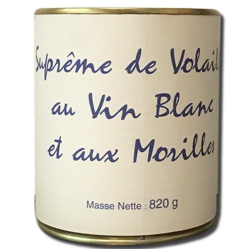 Supreme de volaille au vin blanc et aux morilles boite 820g - épicerie fine en ligne