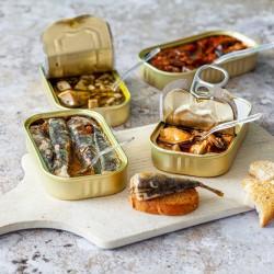 Coffret 4 boites de tapas méditerranéennes - épicerie fine en ligne