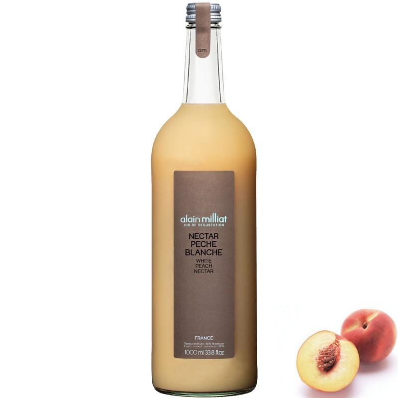Weißer Pfirsichsaft, 1L - Online französisches Feinkost