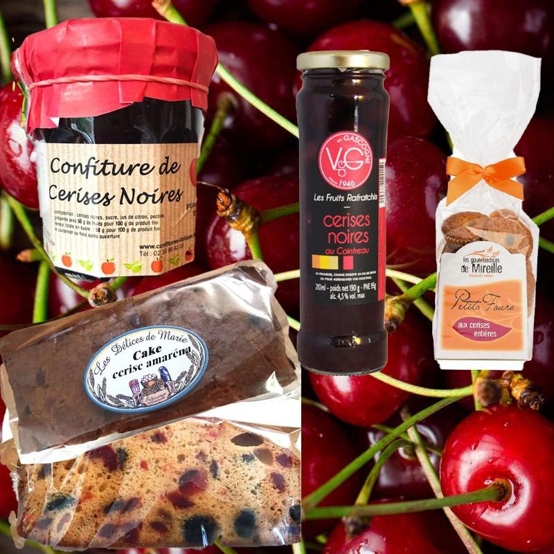 coffret gourmand : la cerise - épicerie fine en ligne