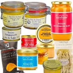 Coffret gourmand : foie gras, truffe & homard - épicerie fine en ligne