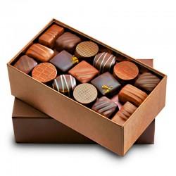 Premium Schachtel dunkle und Milchschokolade, 200g - Online französisches Feinkost
