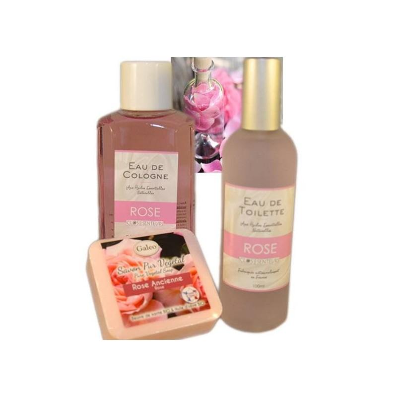 Confezione regalo di profumo rosa