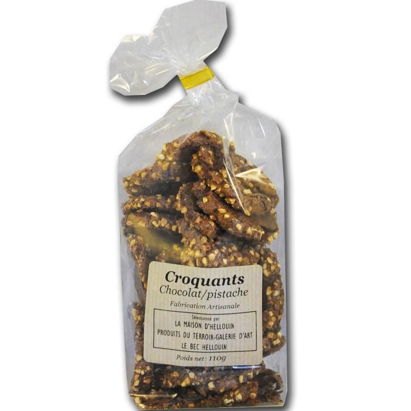 Galletas Crujientes Con Chocolate Y Pistacho - delicatessen francés online