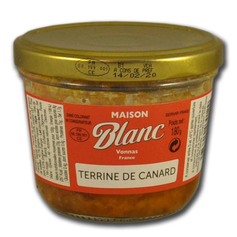 Terrine de Canard - épicerie fine en ligne