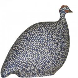 Blaues Kobalt Keramik-Perlhuhn