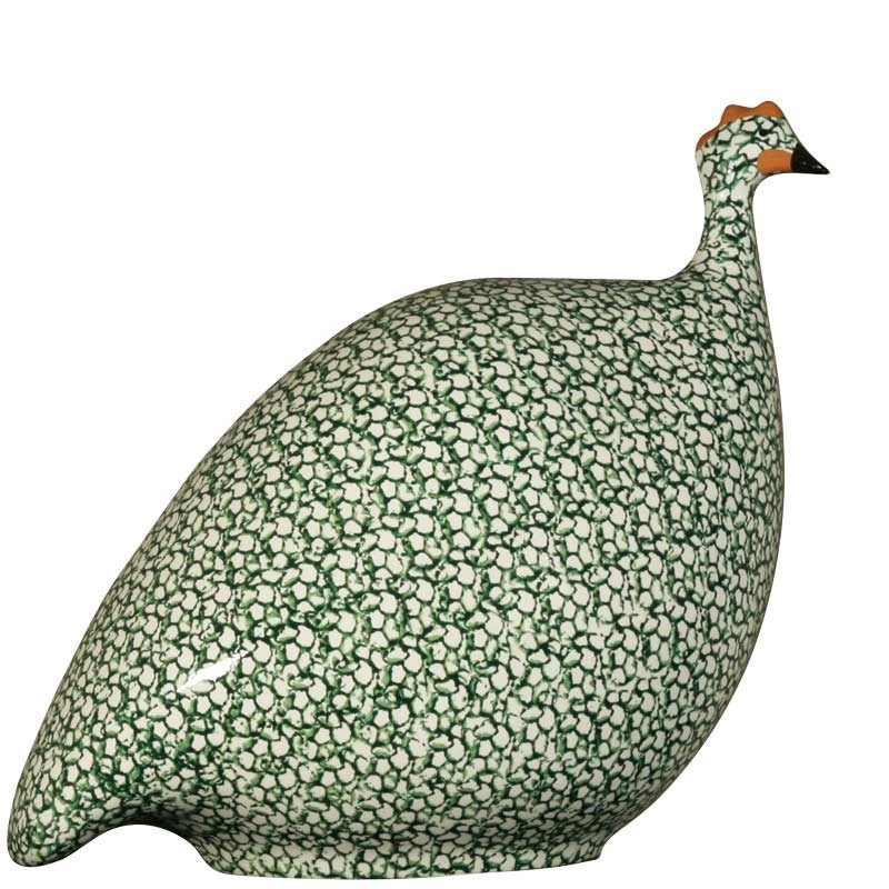 Modello medio di guinea di ceramica bianco-verde