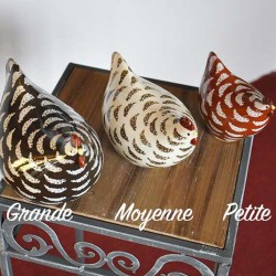 Poulette ceramique de Lussan Petit Modele Blanche